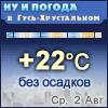Ну и погода в Гусь-Хрустальном - Поминутный прогноз погоды